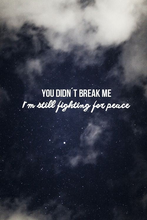 I've grown up being bullied and torn down, but I refuse to let those words break me.
