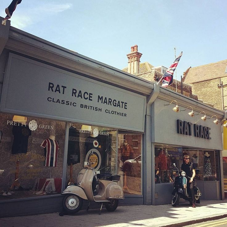 #ratracemargate Open 7 days a week // 10 - 5.30.  #vespa #lambretta #ratrace #margate #dreamlandmargate #dreamland #ska #reggae #retro #mod #skins #subculture #drmartens #prettygreen #trojanrecords