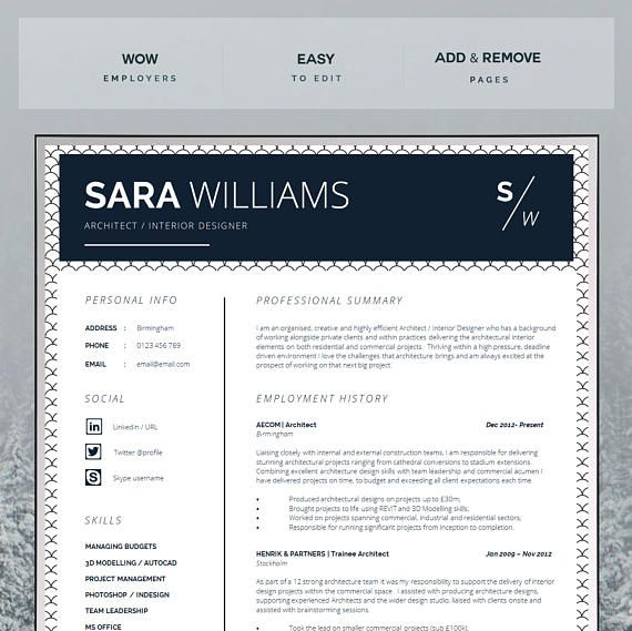 This Super Easy To Edit Curriculum Vitae Is An Immediate Download For Ms Word Mac Or Pc A4 Let Resume Design Resume Template Professional Curriculum Vitae