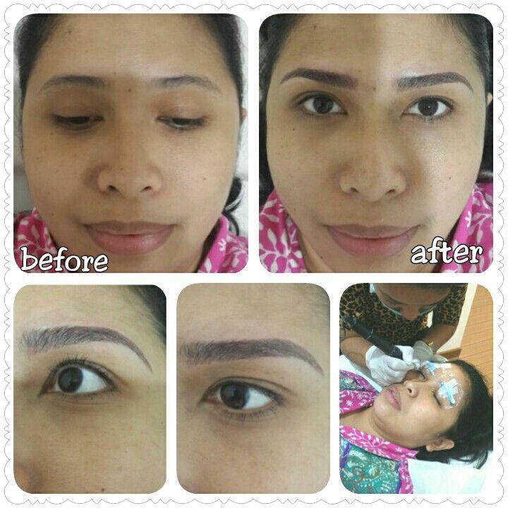 Eyebrow & Eyeliner Embroidery by Teresia Hilda @Oh! Waxing