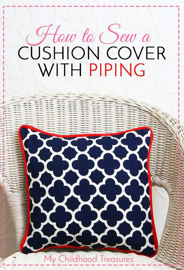 Make a Cushion Cover with Piping - Cushion Cover Patterns