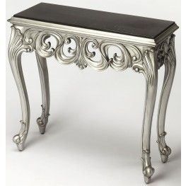 Guilbert Silver Console Table