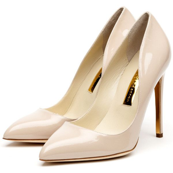 Rupert Sanderson High Heel Pumps (2.115 BRL) ❤ liked on Polyvore featuring shoes, pumps, heels, sapatos, zapatos, nude shoes, nude patent shoes, rupert sanderson pumps, nude patent pumps and nude high heel shoes