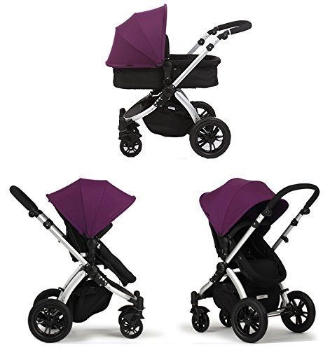 Cochecito de Bebe 3 en 1 Ibaby One Purple (Silla + Capazo + Grupo 0 + Cubrepies + Bolso + Sombrilla)