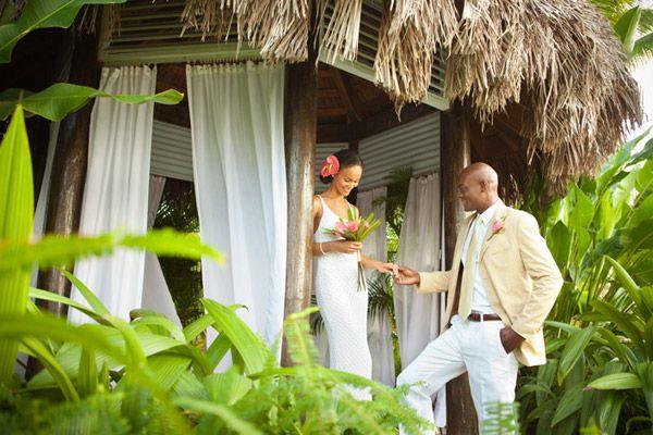 jamaica couples resorts tropical destination wedding garden gazebo
