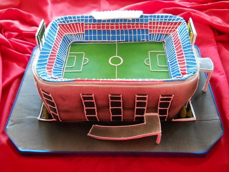 """Torta de Estadio de Fútbol. Inspirada en el """"Camp Nou""""."""