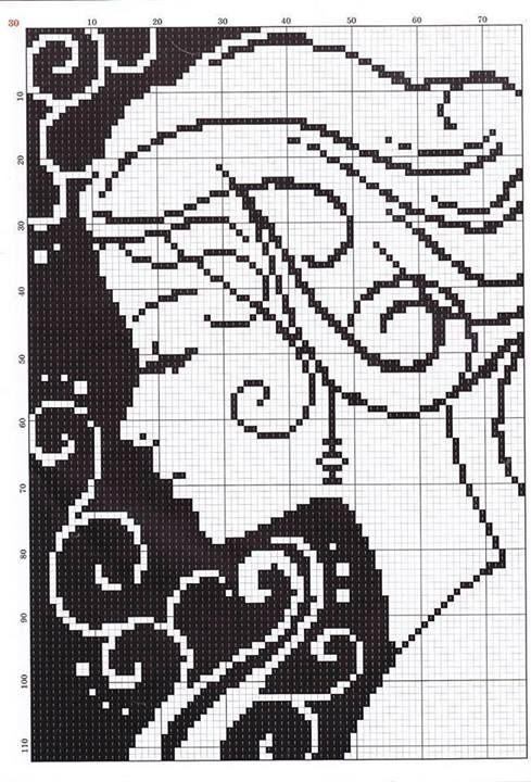 Схема вышивка крестом диана с - вышивка голка.