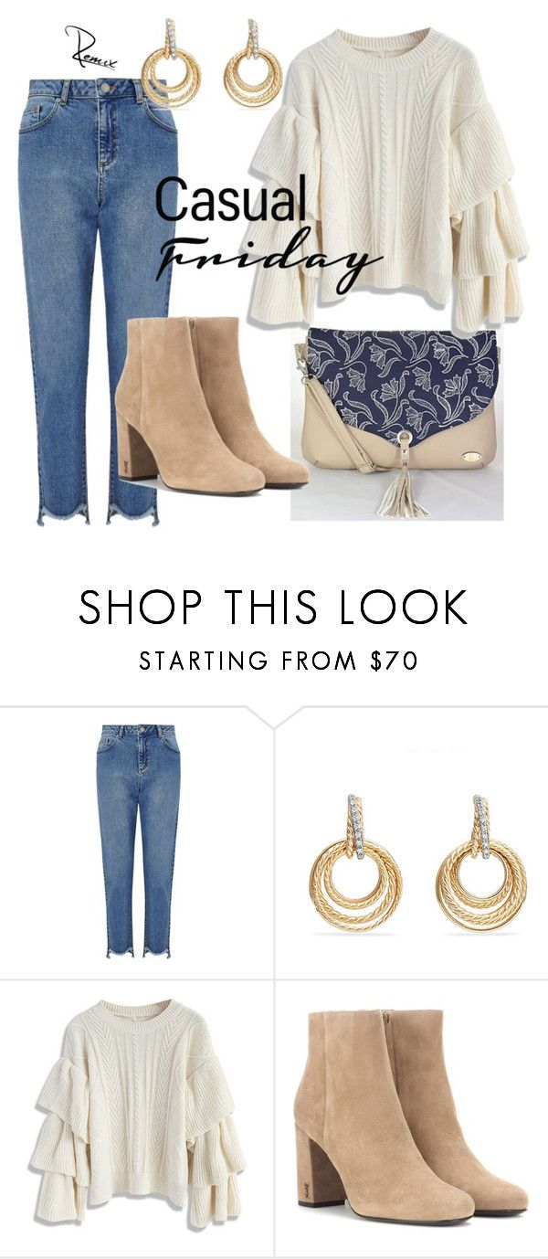 """""""Transition"""" by aleva on Polyvore featuring Miss Selfridge, David Yurman, Chicwish and Yves Saint Laurent"""