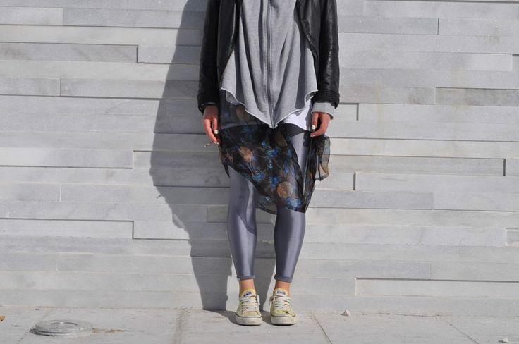 pcp grey shiny leggings