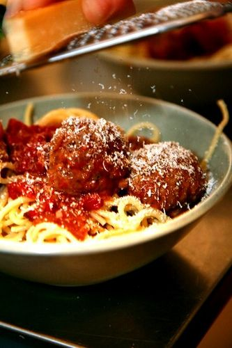 These are the best meatballs, from Smitten Kitchen. Absolutely delicious, and they can be made ahead and frozen for later.