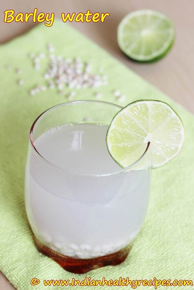 Barley Water - used to prevent formation of kidney stones, water retention in pregnant women and to treat urinary tract infections.  It has many more benefits like clearing toxins from stomach, helping to reduce cholesterol and keeping the skin clear. Also considered one of the best summer drinks to keep cool & hydrated.