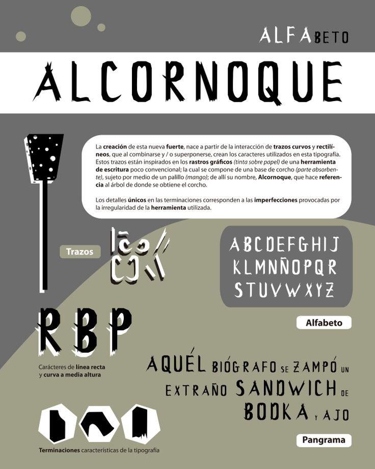 Alcornoque: creación tipográfica en base a una herramienta inventada