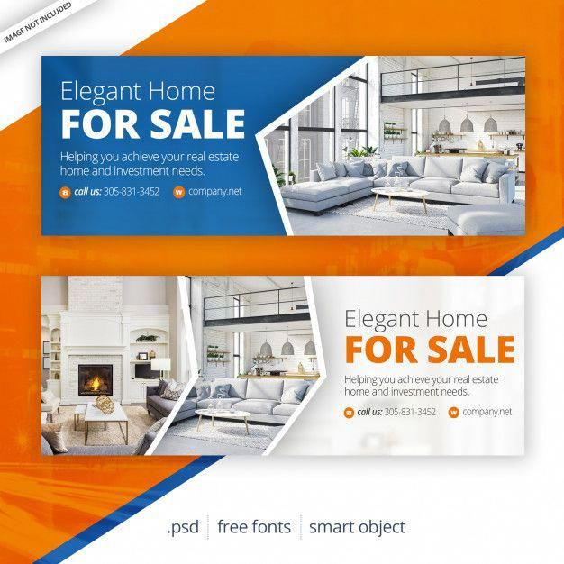 Real Estate Facebook Cover Premium Psd Real Estate Banner Real Estate Web Banner Design