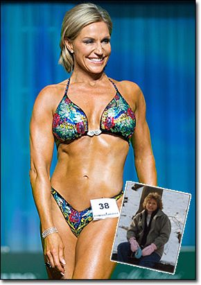 "Tosca Reno is in her 50's...INSANE RIGHT?!?! she had weight/health issues and turned it around and has won fitness competitions. She is also the writer of the ""Eat Clean"" books :)"