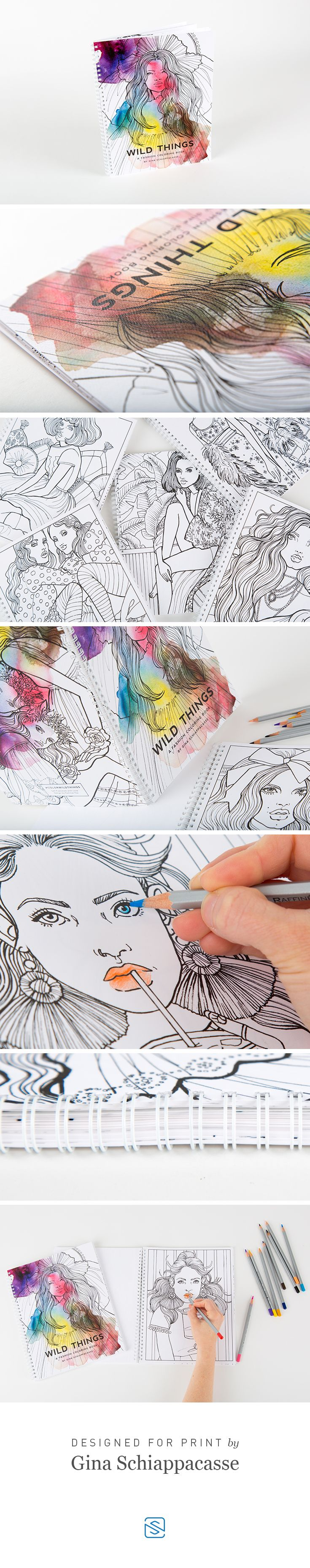 """Wire Coil Coloring Book Graphic Design by Gina Schiappacasse 