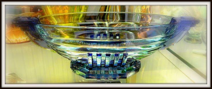 Pressed Glass, Belgium made. Museum of Glass, Leerdam.