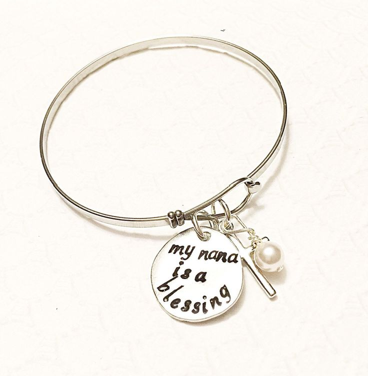 Hand stamped bracelet- Mother's jewelry - Grandmother jewelry - Name bracelet - Nana jewelry - Gift for mom - Custom gift - Religious gift