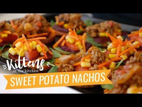 Ashy Bines's Sweet Potato Nachos Recipe | Kittens in the Kitchen - YouTube