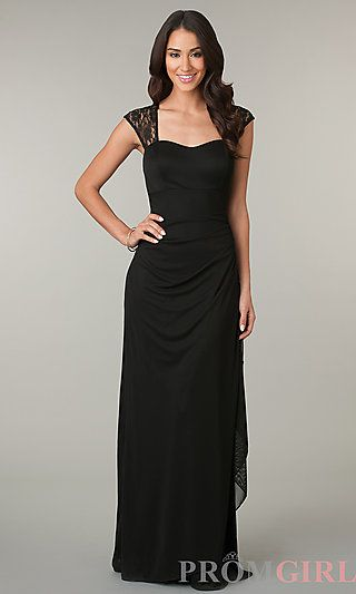 Ruched Floor Length Floor Length Dress at PromGirl.com Looking for a simple dress for prom? We found it!  #prom #fashion #dress #gown