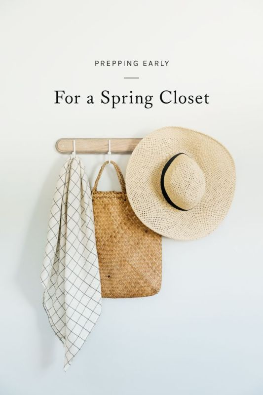 Prepping Early for A Spring Closet - tips and tricks for organizing your small space closet