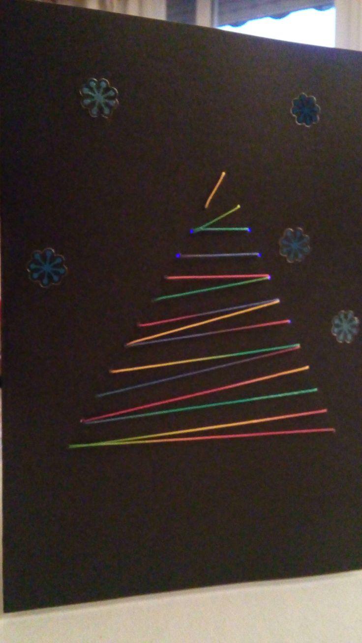 #Navidad #Postal #Handmade #Scrap #Washitape #Estrellas