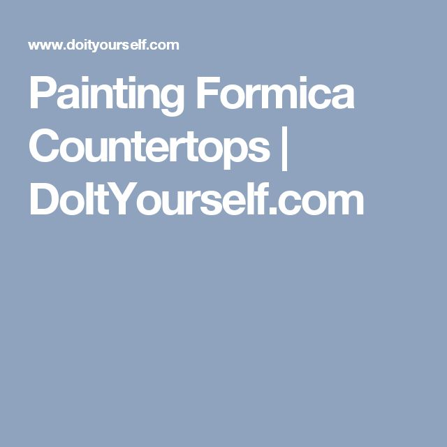 Painting Formica Countertops | DoItYourself.com