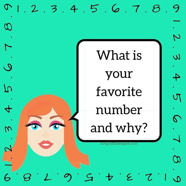 My favorite number is 7. I'm not sure why but maybe because it is an uneven/odd number. What about you? Tell me in the comments. Time to practice your English!  . . . . . . . #socialsaturdays #numbers #conversation . #english #learningenglish #learnenglish #englishclass #socialenglish #ingles #aprenderingles #smalltalk #aprendaingles #inglesonline #inglese #engleski #anglais #faleingles #dicasingles #teacher #englishteacher #ESL #TEFL #tofl #CAE #FCE #blogger #kimgriffithsenglish #tea...