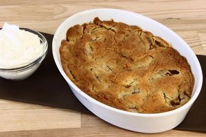 Amerikansk Æblekage med flødeskum 4