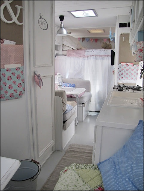 an RV redo that's adorable...though that much white makes the mama in me cringe!