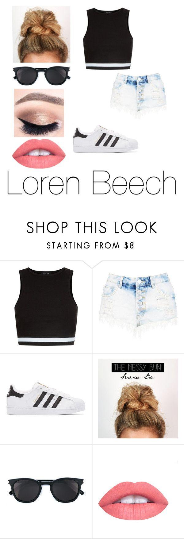 """Loren Beech "" by amanda-bix04 on Polyvore featuring New Look, adidas Originals and Yves Saint Laurent"