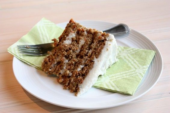 Paleo and Gluten Free Carrot Cake with Dairy Free Cream Cheese Frosting on fresh4five.com