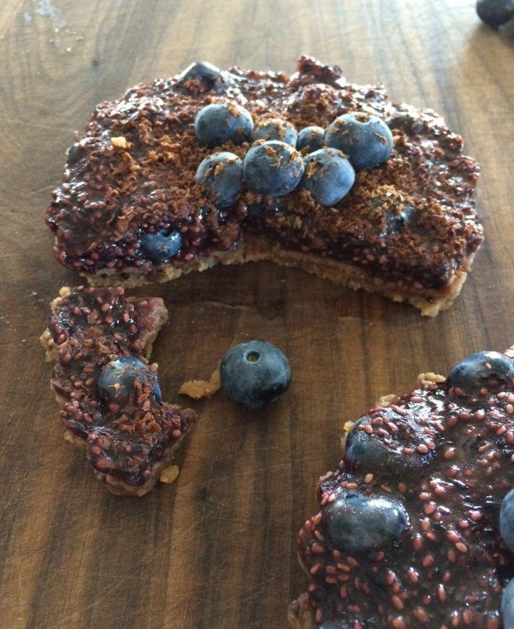 Recette de tartelette crue aux bleuets inspiration Aux Saveurs de la Terre - Le Garde-Manger du Québec