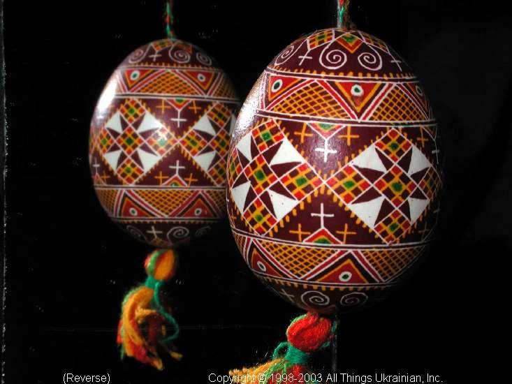 Ukrainian Easter Egg Pysanky 03-198  from the Lviv Region on AllThingsUkrainian.com