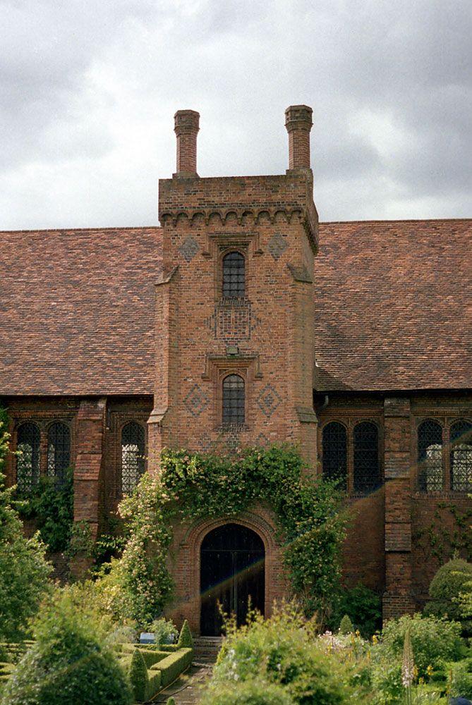 The old Palace, at Hatfield, Elizabeth I.'s childhood home.
