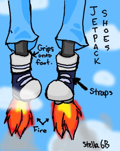 Jet Pack Shoes. Because I Hate Cars.