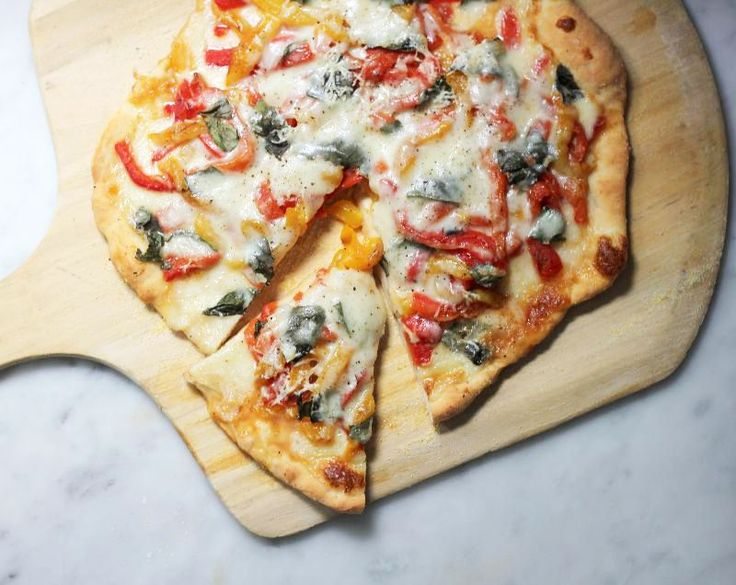 Paired with your favorite sauce, cheese, and veggies this 2-ingredient no-rise pizza dough is fantastic. This recipe is great for a last-minute pizza party or weeknight meals!