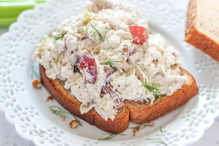 Slow Cooker Chicken Salad is a delicious make-ahead recipe that is perfect for lunches and potlucks. Made with classic chicken salad ingredients.