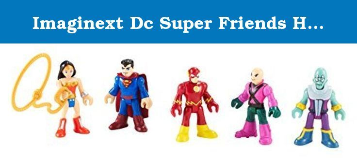 Imaginext Dc Super Friends Heroes & Villains Pack With Brainiac Lex Luthor Superman Flash Wonder Woman by Imaginext. Imaginext Dc Super Friends Heroes & Villains Toy Pack;This Imaginext DC Comics collection is a super way to take imaginations up, up and away;Villains Pack with Brainiac, Lex Luthor, Superman, Flash and Wonder Woman action figures;Kids can crank up the DC Super Power for their next imaginative adventure;This Fisher Price toy playset is for ages 3 years and over.