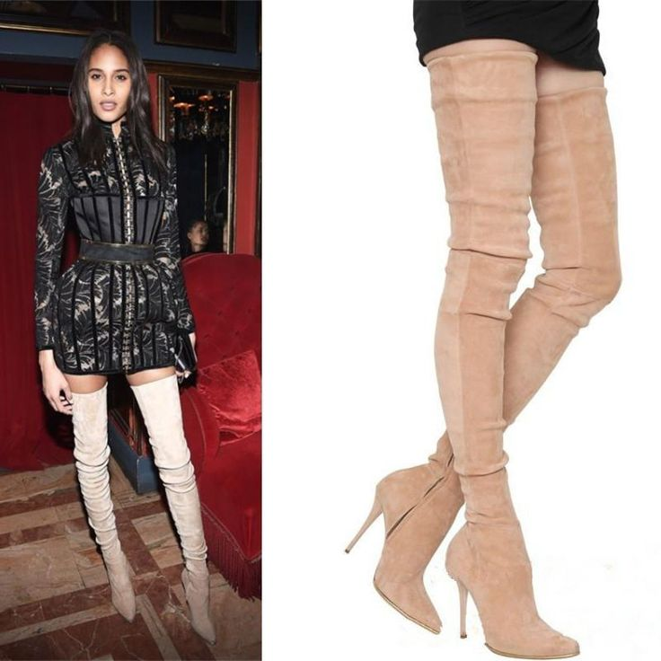 Now Available For The Season: Suede ThiGH - http://celebrityshoes4u.com/products/stiletto-soft-suede-over-knee-thigh-high-boots-zapatos-mujer-2017-runway-celebrity-women-shoes-stretch-autumn-winter-women-boots?utm_campaign=social_autopilot&utm_source=pin&utm_medium=pin. There Is Also A Special Offer Available In Store For You!