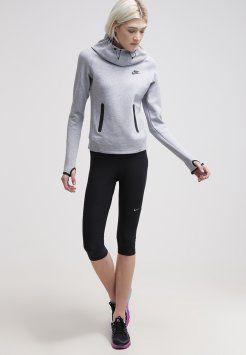 Nike Sportswear - TECH FLEECE - Hoodie - dark grey heather / black