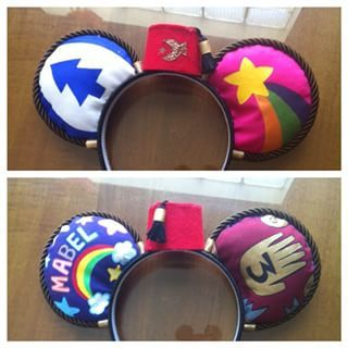 Finished the gravity falls ears! Early bday gift for the lovely @myipodispsychic !!!! >>>AWESOME