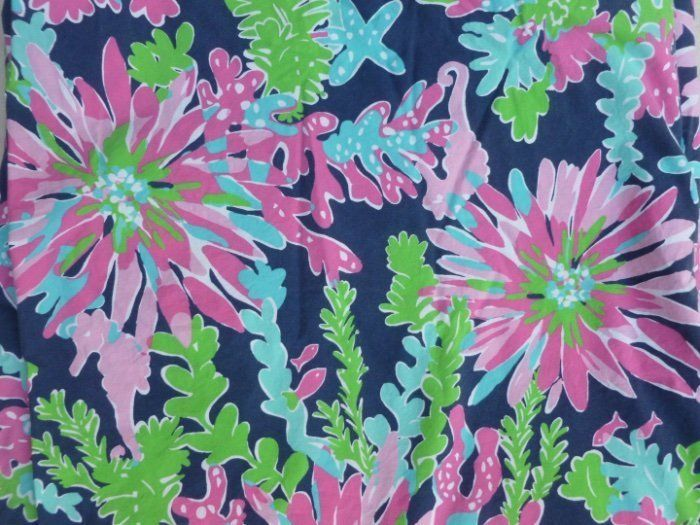 """Fantastic Lilly Pulitzer for Garnet Hill navy duvet cover in the """"Sippin and Trippin"""" pattern. Great coral-inspired print with bright colors in pink, lime and turquoise. Very Good Pre-Owned Condition - No rips, tears or stains.   eBay!"""