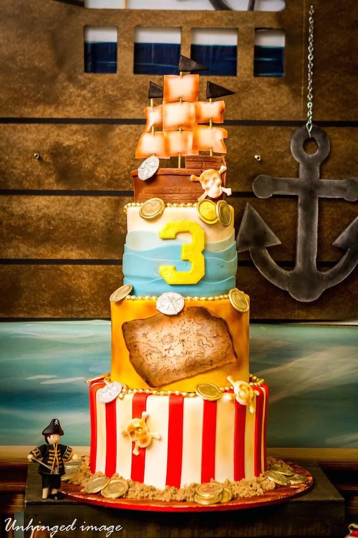 Pirate themed birthday party with Such Cute Ideas via Kara's Party Ideas! Full of decorating ideas, cupcakes, cake, games, and more! #pirate...