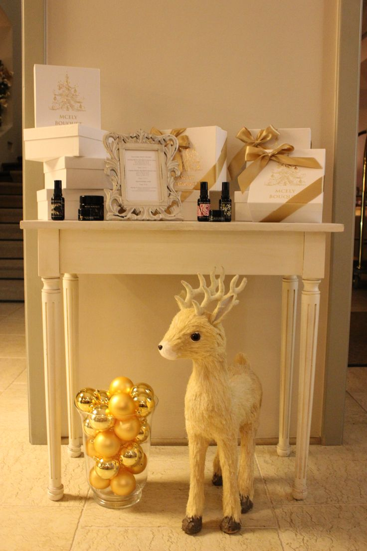 Christmas boutique at Chateau Mcely