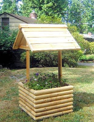I want to build a wishing well planter to put on our rock bed in front of our house.