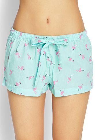 Flamingo Sleep Shorts | FOREVER 21 - 2000125107