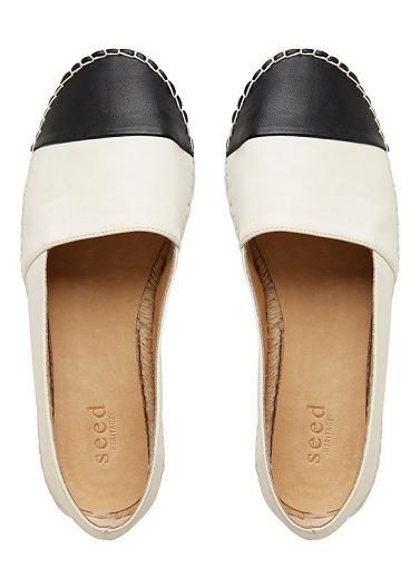 Womens Shoes | Ava Leather Espadrille | Seed Heritage