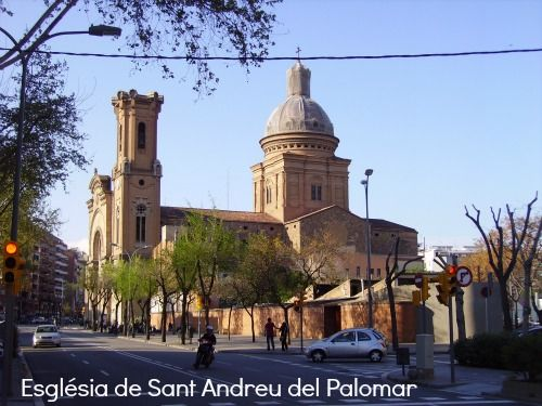 The beautiful church of Sant Andreu del Palomar is on Torras i Bages next to Plaça Orfila in Sant Andreu.