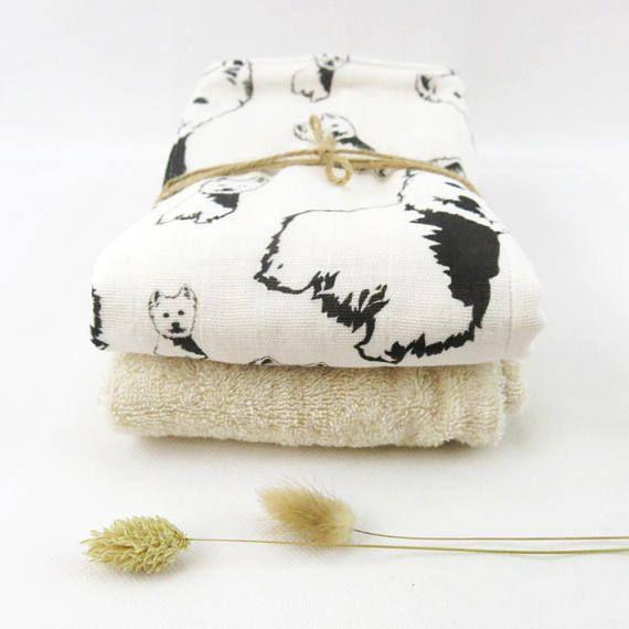 Organic Muslin And Organic Terry Towelling Baby Burping Cloths