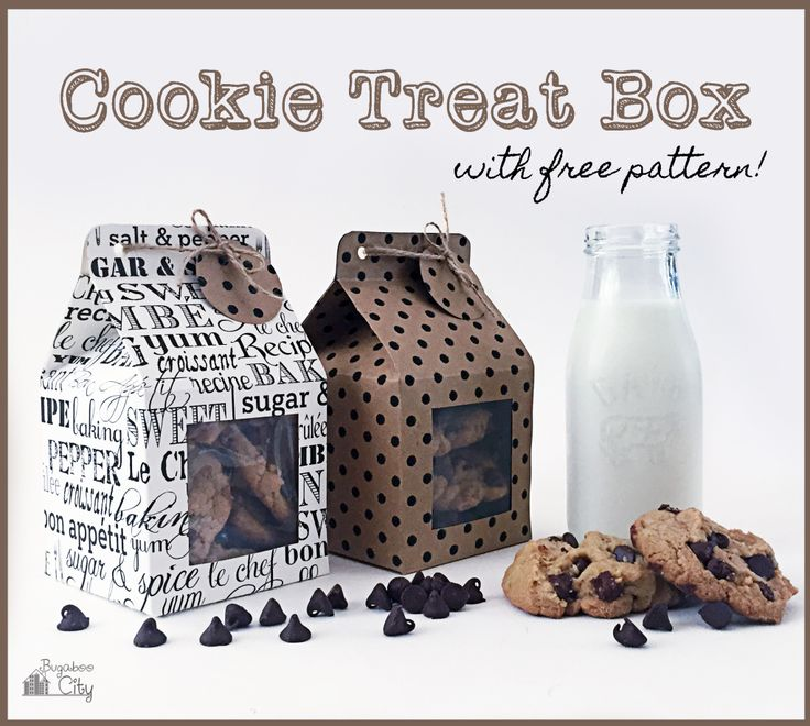DIY Cookie Treat Box with Tutorial Free Pattern